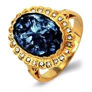 Royalty Inspired Sapphire Swarovski Crystal Engagement Ring