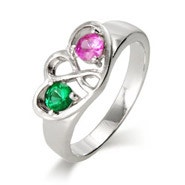 2 Stone Custom Birthstone Infinity Ring