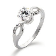 Brilliant Cut CZ Infinity Promise Ring