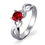 Custom Birthstone Infinity Ring