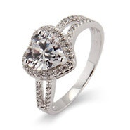 Beautiful Heart CZ Promise Ring