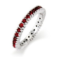 Sparkling January Birthstone Stackable Ring