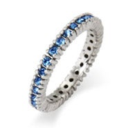 Sparkling September Birthstone Stackable Ring