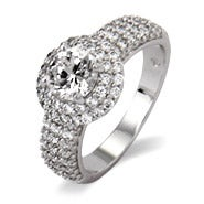 Pave with Brilliant Cut CZ Right Hand Ring