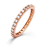 Rose Gold CZ Eternity Band