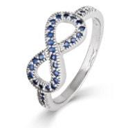 Sapphire CZ Infinity Ring