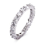Brilliant Cut CZ Stackable Eternity Band