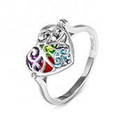 Key To My Heart Birthstone Locket Ring