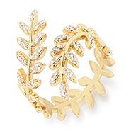 gorjana Olympia Shimmer Wrap Ring in Gold