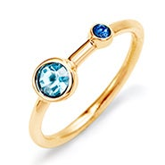 Mother and Child Custom Birthstone Gold Ring