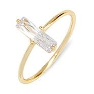 Baguette CZ Gold Stackable Ring