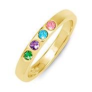 4 Stone Birthstone Gold Ring