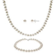 6mm Freshwater Pearl Necklace, Bracelet & Earring Set